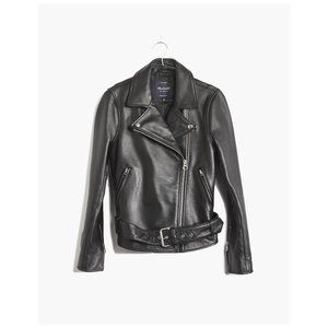 NWT Madewell Ultimate Leather Moto Jacket in XXS